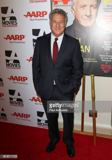 Actor / Director Dustin Hoffman attends the AARP Magazine's 12th annual Movies For Grownups Awards luncheon at the Peninsula Hotel on February 12...