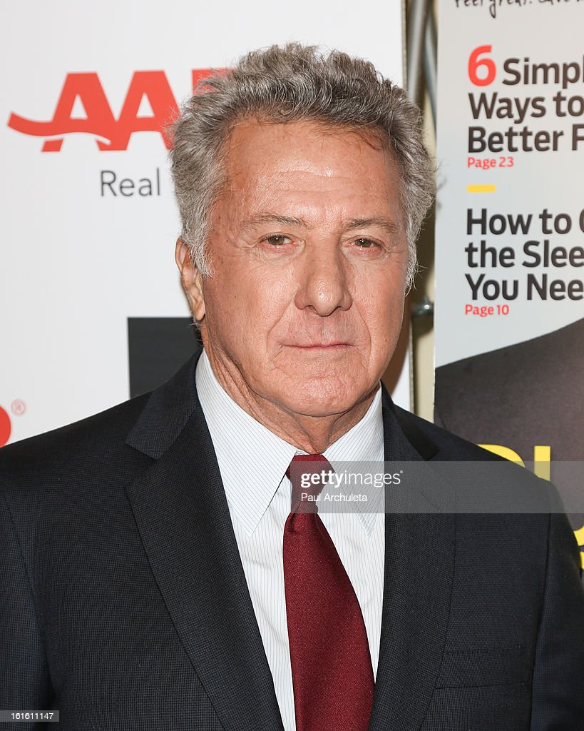 Actor / Director <a gi-track='captionPersonalityLinkClicked' href=/galleries/search?phrase=Dustin+Hoffman&family=editorial&specificpeople=171356 ng-click='$event.stopPropagation()'>Dustin Hoffman</a> attends the AARP Magazine's 12th annual Movies For Grownups Awards luncheon at the Peninsula Hotel on February 12, 2013 in Beverly Hills, California.