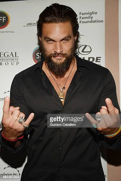Actor /director Jason Momoa arrives to a screening of 'Road to Paloma' during the Sarasota Film Festival at Regal Cinemas Hollywood Stadium on April...