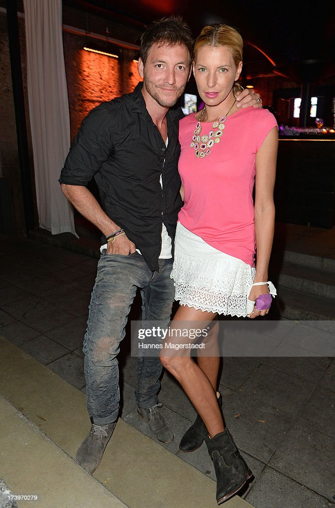 Actor Dirk Moritz and Giulia Siegel attend the Verena Kerth birthday party at P1 on July 18, 2013 in Munich, Germany. Kerth also celebrated the release of the new Playboy issue with her on the cover.