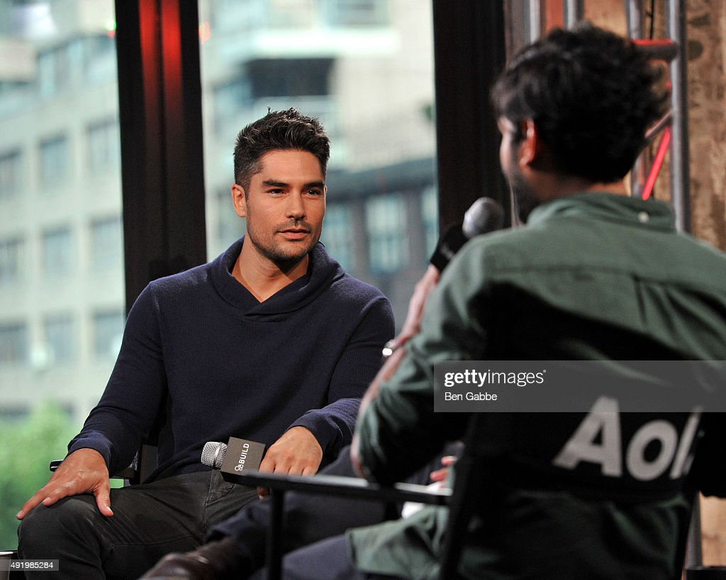 Actor D.J. Cotrona (L) attends AOL Build presents 'From Dusk Til Dawn: The Series' at AOL Studios In New York on October 9, 2015 in New York City.
