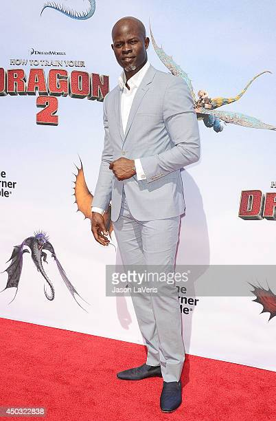 Actor Djimon Hounsou attends the premiere of 'How To Train Your Dragon 2' at Regency Village Theatre on June 8 2014 in Westwood California