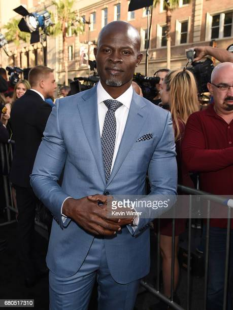Actor Djimon Hounsou attends the premiere of Warner Bros Pictures' 'King Arthur Legend Of The Sword' at TCL Chinese Theatre on May 8 2017 in...