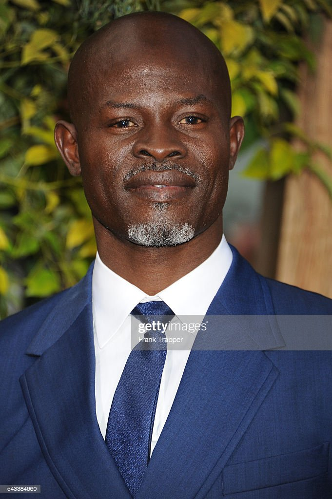 Actor <a gi-track='captionPersonalityLinkClicked' href=/galleries/search?phrase=Djimon+Hounsou&family=editorial&specificpeople=204469 ng-click='$event.stopPropagation()'>Djimon Hounsou</a> attends the premiere of Warner Bros. Pictures' 'The Legend Of Tarzan' held at the Dolby Theater on June 27, 2016 in Hollywood, California.