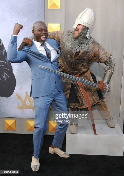 Actor Djimon Hounsou attends world premiere of Warner Bros Pictures' 'King Arthur Legend Of The Sword' at TCL Chinese Theatre on May 8 2017 in...