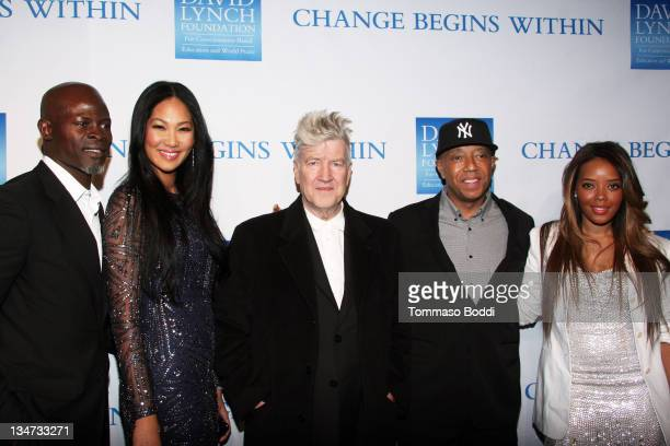 Actor Djimon Hounsou Kimora Lee Simmons director/musician David Lynch Russell Simmons and Angela Simmons attend the 3rd annual 'Change Begins Within'...