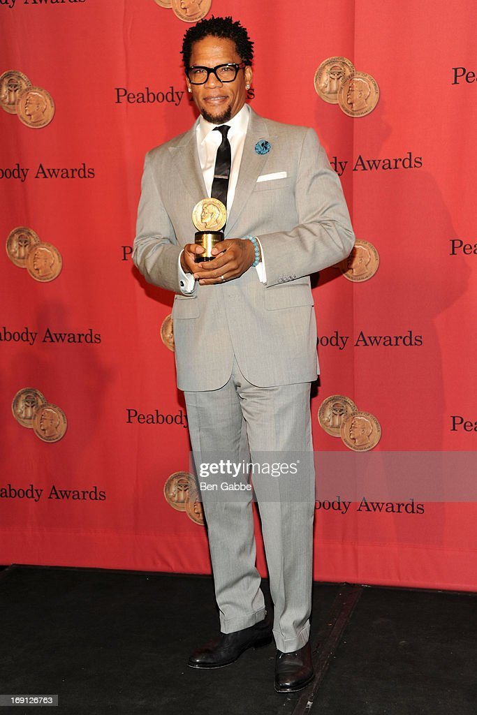 Actor <a gi-track='captionPersonalityLinkClicked' href=/galleries/search?phrase=D.L.+Hughley&family=editorial&specificpeople=211272 ng-click='$event.stopPropagation()'>D.L. Hughley</a> attends 72nd Annual George Foster Peabody Awards at The Waldorf=Astoria on May 20, 2013 in New York City.