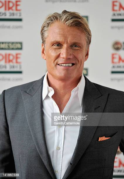 Actor Dolph Lundgren attends the 2012 Jameson Empire Awards at the Grosvenor House Hotel on March 25 2012 in London England