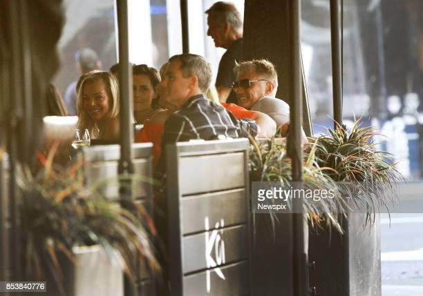 Actor Dolph Lundgren sits with friends at Koi Dining Lounge in Broadbeach on the Gold Coast Queensland Dolph Lundgren is currently filming Aquaman