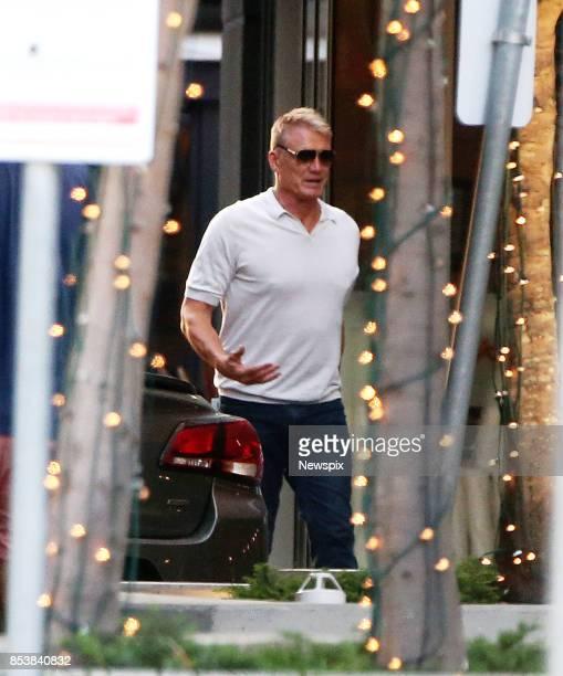 Actor Dolph Lundgren walks around Broadbeach on the Gold Coast Queensland Dolph Lundgren is currently filming Aquaman