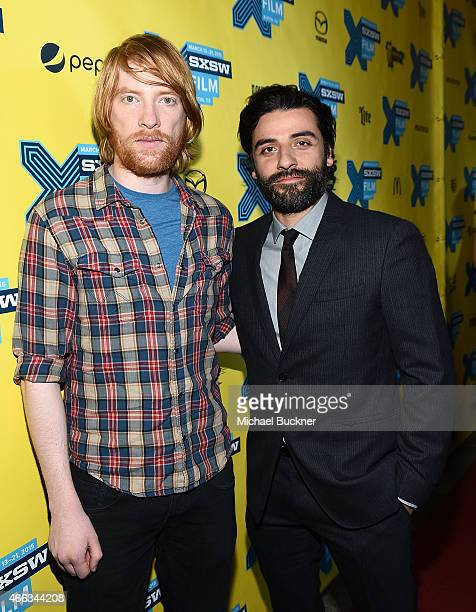 Actor Domhnall Gleeson and actor Oscar Isaac arrive at the premiere of 'Ex Machina' during the 2015 SXSW Music FIlm Interactive Festival at the...