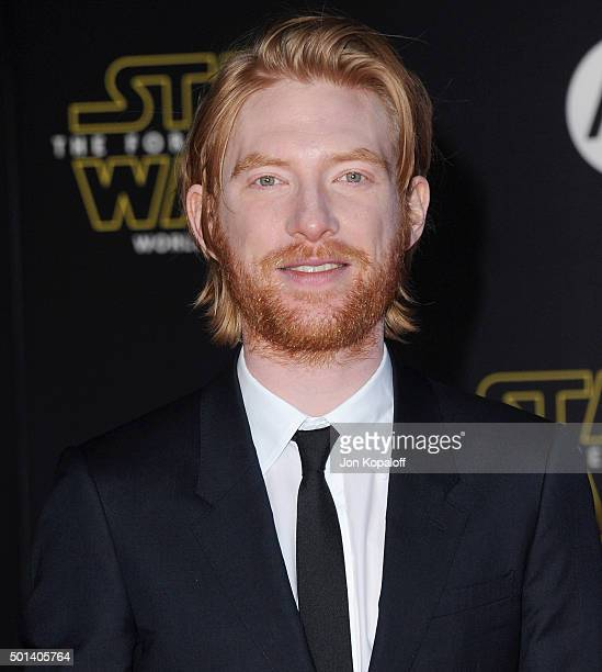 Actor Domhnall Gleeson arrives at the Los Angeles Premiere 'Star Wars The Force Awakens' on December 14 2015 in Hollywood California