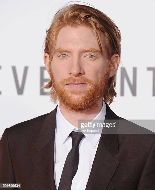 Actor Domhnall Gleeson arrives at the Los Angeles Premiere 'The Revenant' at TCL Chinese Theatre on December 16 2015 in Hollywood California