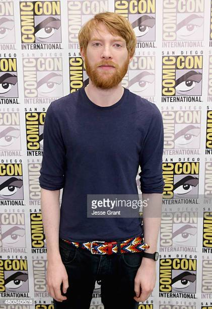 "Actor Domhnall Gleeson at the Hall H Panel for ""Star Wars The Force Awakens"" during ComicCon International 2015 at the San Diego Convention Center on..."