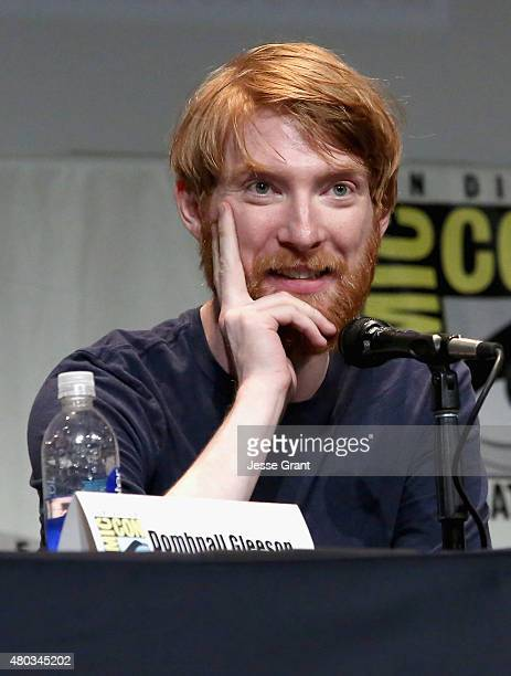 Actor Domhnall Gleeson at the Hall H Panel for 'Star Wars The Force Awakens' during ComicCon International 2015 at the San Diego Convention Center on...
