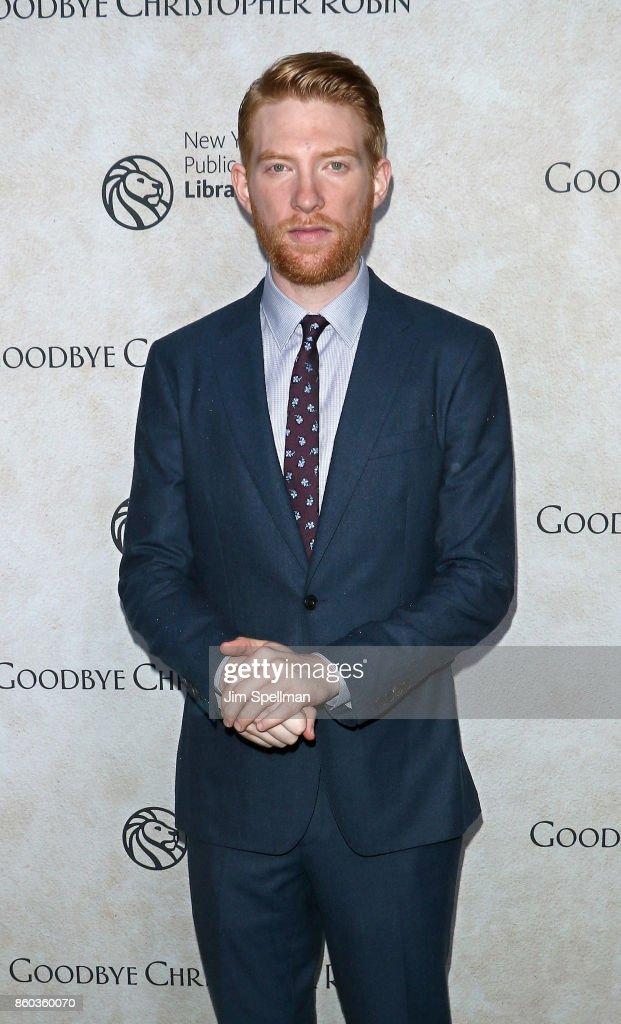 Actor Domhnall Gleeson attends the 'Good Bye Christopher Robin' New York special screening at The New York Public Library on October 11, 2017 in New York City.