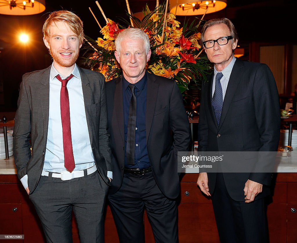 Actor Domhnall Gleeson, filmmaker Richard Curtis and actor Bill Nighy attend the after party for the 'About Time' & 'Jimmy