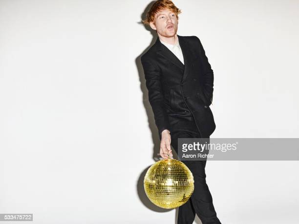 Actor Domhnall Gleeson is photographed for BlackBook on October 10 2012 at Acme Studios in Brooklyn New York