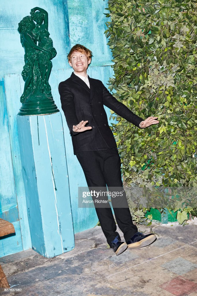 Actor Domhnall Gleeson is photographed for BlackBook on October 10, 2012 at Acme Studios in Brooklyn, New York. PUBLISHED