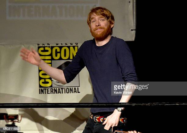Actor Domhnall Gleeson speaks onstage at the Lucasfilm panel during ComicCon International 2015 at the San Diego Convention Center on July 10 2015 in...