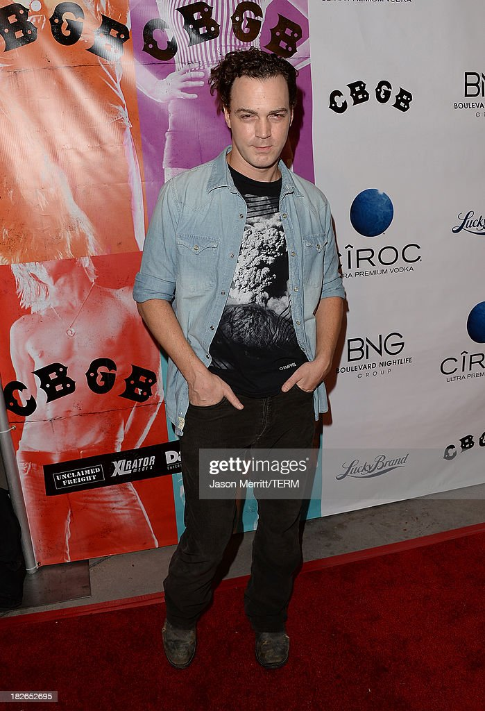 Actor Dominic Bogart attends a screening of Xlrator Media's 'CBGB' at ArcLight Cinemas on October 1, 2013 in Hollywood, California.