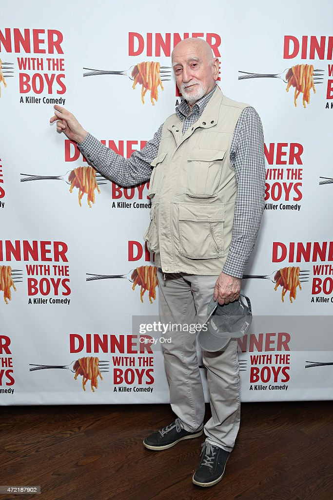 Actor <a gi-track='captionPersonalityLinkClicked' href=/galleries/search?phrase=Dominic+Chianese&family=editorial&specificpeople=175942 ng-click='$event.stopPropagation()'>Dominic Chianese</a> attends 'Dinner With The Boys' opening night at Acorn Theatre on May 4, 2015 in New York City.