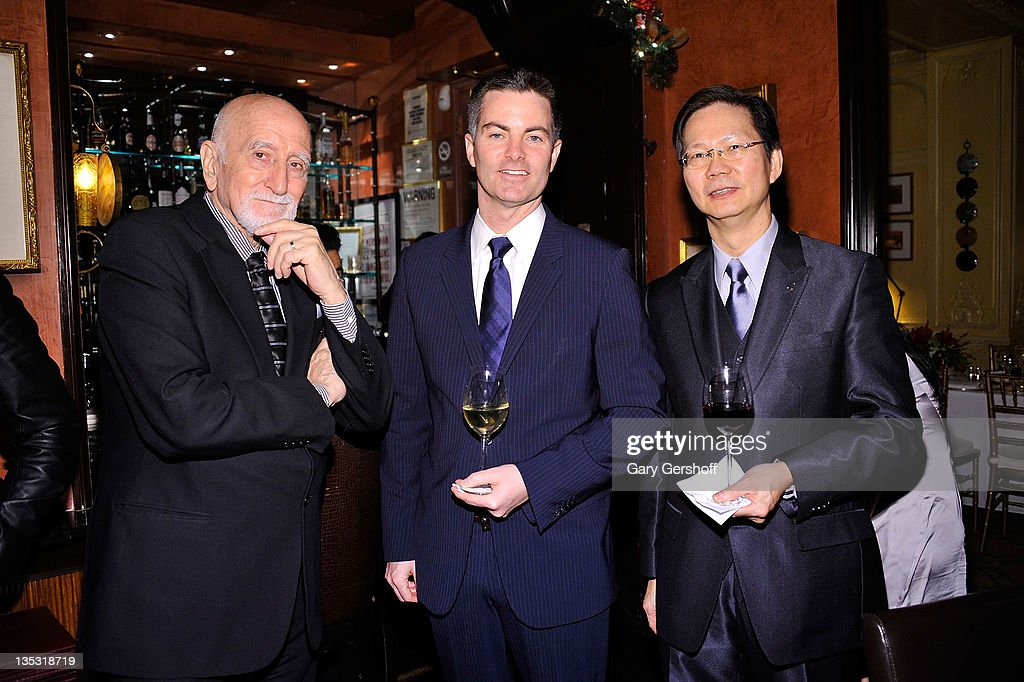 Actor <a gi-track='captionPersonalityLinkClicked' href=/galleries/search?phrase=Dominic+Chianese&family=editorial&specificpeople=175942 ng-click='$event.stopPropagation()'>Dominic Chianese</a>, Brand President, Breguet North America, Michael Nelson, and assistant manager Jimmy Soong attend a private after party for the Breguet Celebration of 10 Years on Madison Avenue on December 8, 2011 in New York City.