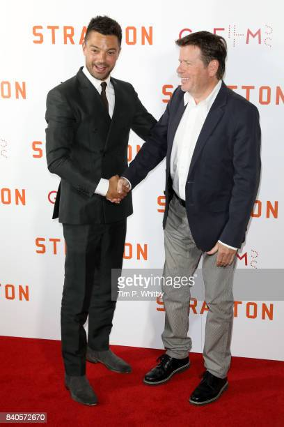 Actor Dominic Cooper and director Simon West attend the 'Stratton' UK premiere at the Vue West End on August 29 2017 in London England