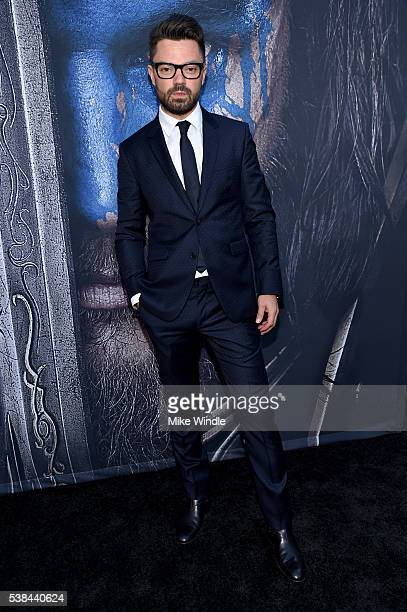 Actor Dominic Cooper attends the premiere of Universal Pictures' 'Warcraft at TCL Chinese Theatre IMAX on June 6 2016 in Hollywood California