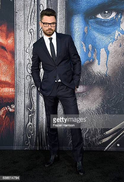 Actor Dominic Cooper attends the premiere of Universal Pictures' 'Warcraft at TCL Chinese Theatre IMAX on June 6 2016 at TCL Chinese Theatre IMAX on...