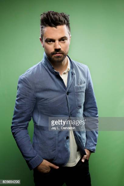 Actor Dominic Cooper from the television series 'Preacher' is photographed in the LA Times photo studio at ComicCon 2017 in San Diego CA on July 21...
