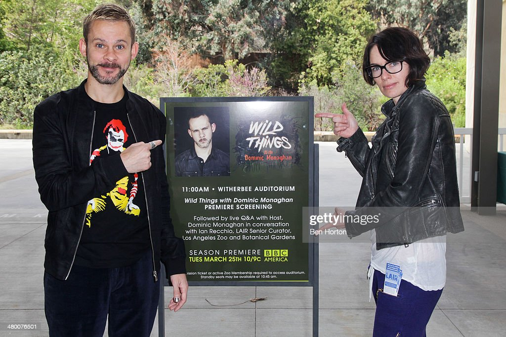 Actor <a gi-track='captionPersonalityLinkClicked' href=/galleries/search?phrase=Dominic+Monaghan&family=editorial&specificpeople=209279 ng-click='$event.stopPropagation()'>Dominic Monaghan</a> and actress <a gi-track='captionPersonalityLinkClicked' href=/galleries/search?phrase=Lena+Headey&family=editorial&specificpeople=2263449 ng-click='$event.stopPropagation()'>Lena Headey</a> attend the BBC AMERICA Wild Things with <a gi-track='captionPersonalityLinkClicked' href=/galleries/search?phrase=Dominic+Monaghan&family=editorial&specificpeople=209279 ng-click='$event.stopPropagation()'>Dominic Monaghan</a> season two premiere screening at the Los Angeles Zoo on March 22, 2014 in Los Angeles, California.
