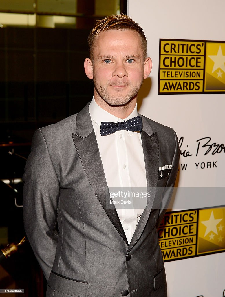 Actor Dominic Monaghan arrives at Broadcast Television Journalists Association's third annual Critics' Choice Television Awards at The Beverly Hilton Hotel on June 10, 2013 in Los Angeles, California.