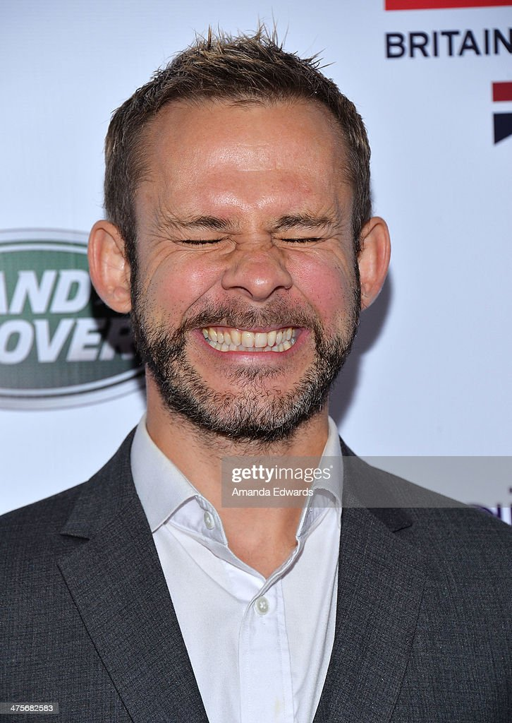 Actor Dominic Monaghan arrives at the GREAT British Film Reception honoring the British Nominees of The 86th Annual Academy Awards at British Consul General's Residence on February 28, 2014 in Los Angeles, California.