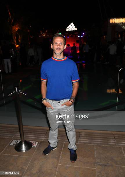 Actor Dominic Monaghan attends Adidas and The Manchester United Squad present Unmissable featuring a live music performance and special guests at The...