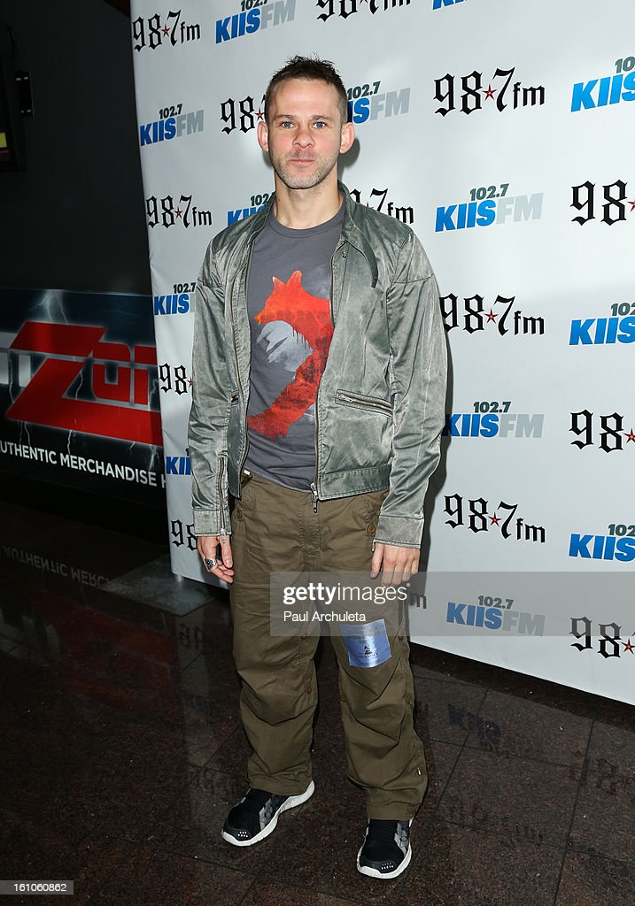 Actor Dominic Monaghan attends the 102.7 KIIS FM and 98.7 5th annual celebrity artist lounge celebrating the 55th Annual GRAMMYS at ESPN Zone At L.A. Live on February 8, 2013 in Los Angeles, California.