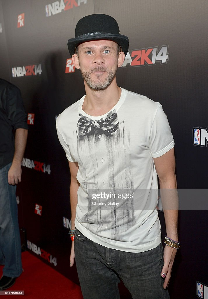 Actor <a gi-track='captionPersonalityLinkClicked' href=/galleries/search?phrase=Dominic+Monaghan&family=editorial&specificpeople=209279 ng-click='$event.stopPropagation()'>Dominic Monaghan</a> attends the NBA 2K14 premiere party at Greystone Manor on September 24, 2013 in West Hollywood, California.