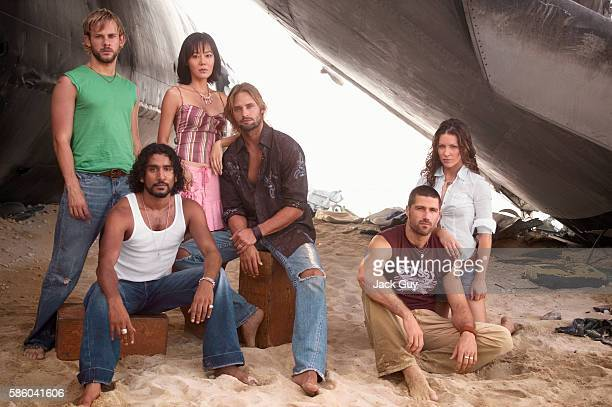 Actor Dominic Monaghan Naveen Andrews YoonJin Kim Josh Holloway Evangeline Lilly and Matthew Fox are photographed for TV Guide Magazine on October 4...
