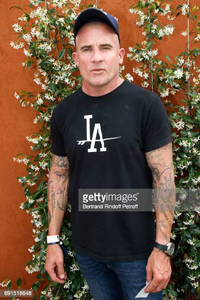 Actor Dominic Purcell attends the 2017 French Tennis Open Day Six at Roland Garros at Roland Garros on June 2 2017 in Paris France