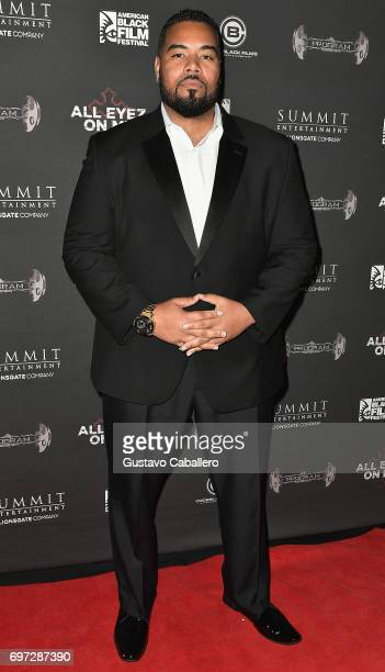 Actor Dominic Santana attends the All Eyez on Me ABFF Screening at Regal South Beach Cinema on June 17 2017 in Miami Florida