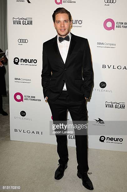 Actor Dominic Sherwood attends the 24th annual Elton John AIDS Foundation's Oscar viewing party on February 28 2016 in West Hollywood California