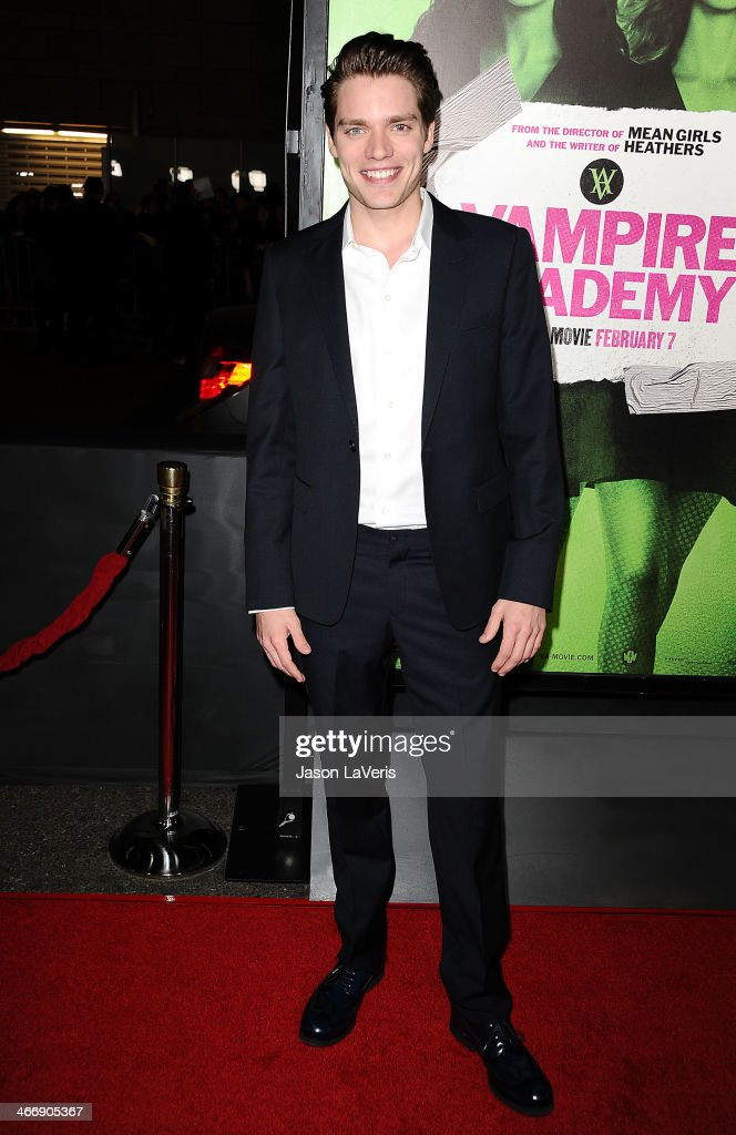 Actor Dominic Sherwood attends the premiere of 'Vampire Academy' at Regal Cinemas L.A. Live on February 4, 2014 in Los Angeles, California.