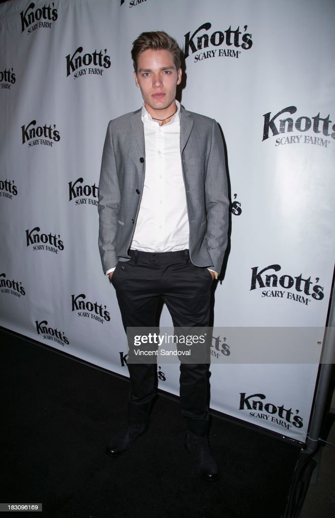 Actor Dominic Sherwood attends the VIP opening of Knott's Scary Farm HAUNT at Knott's Berry Farm on October 3, 2013 in Buena Park, California.