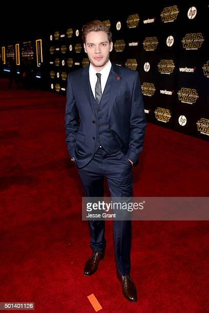 """Actor Dominic Sherwood attends the World Premiere of """"Star Wars The Force Awakens"""" at the Dolby El Capitan and TCL Theatres on December 14 2015 in..."""