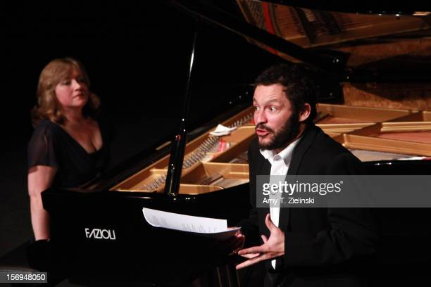 Actor Dominic West portrays French composer Claude Debussy as pianist Lucy Parham plays piano works from 'Clair de Lune' 'Reverie' 'The Girl With The...