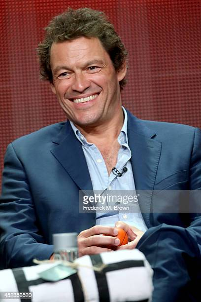 Actor Dominic West speaks onstage at the 'The Affair' panel during the SHOWTIME Network portion of the 2014 Summer Television Critics Association at...