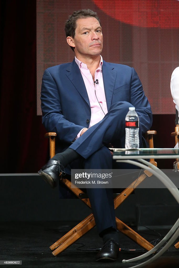 Actor <a gi-track='captionPersonalityLinkClicked' href=/galleries/search?phrase=Dominic+West&family=editorial&specificpeople=211555 ng-click='$event.stopPropagation()'>Dominic West</a> speaks onstage during the 'The Affair' panel discussion at the Showtime portion of the 2015 Summer TCA Tour at The Beverly Hilton Hotel on August 11, 2015 in Beverly Hills, California.
