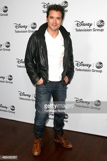 Actor Dominic Zamprogna attends the Disney ABC Television Group's 2014 winter TCA party held at The Langham Huntington Hotel and Spa on January 17...