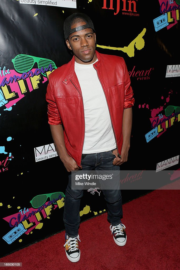 Actor Dominick Mozee arrives at iiJin's Spring/Summer 2014 'The Glamorous Life' clothing and footwear collection fashion show at Avalon on October 16, 2013 in Hollywood, California.