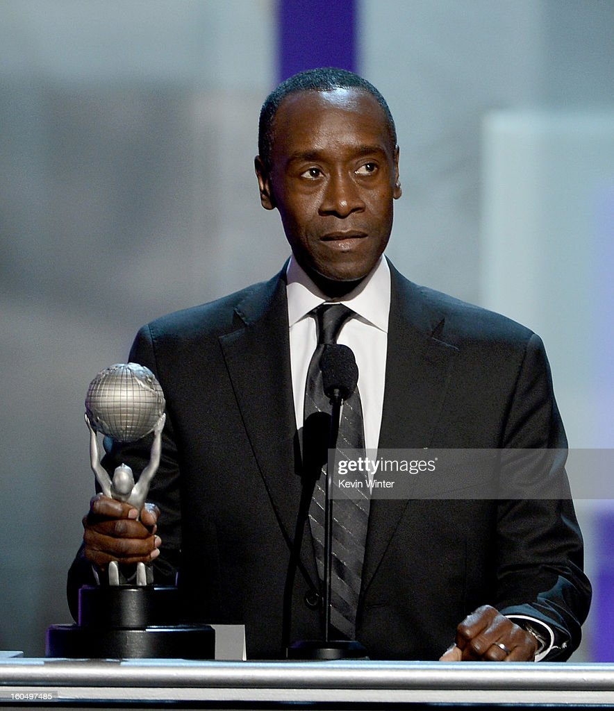 Actor Don Cheadle accepts Outstanding Actor in a Comedy Series award for 'House of Lies' onstage during the 44th NAACP Image Awards at The Shrine Auditorium on February 1, 2013 in Los Angeles, California.